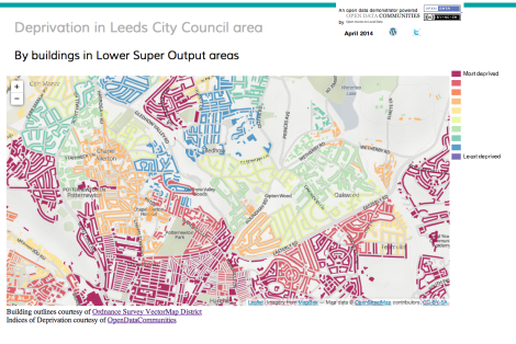 Deprivation in Leeds – another open data example