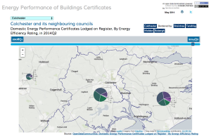 Visualising statistics on energy performance of buildings