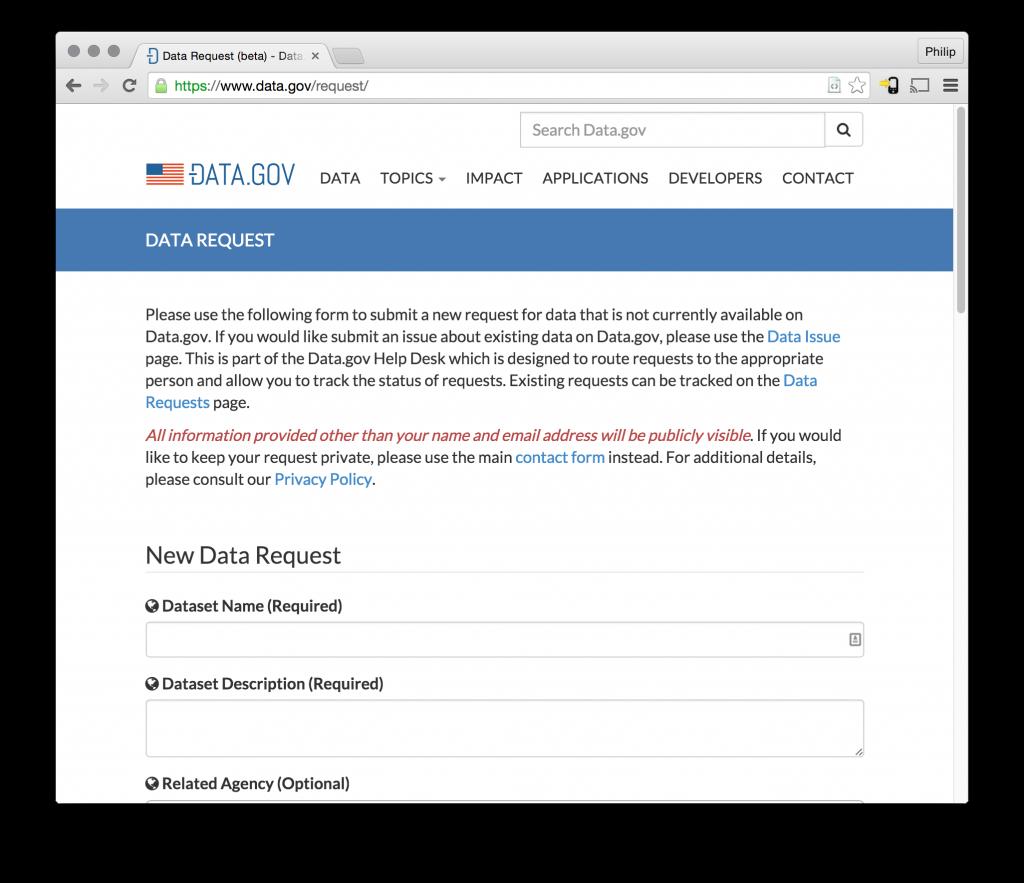 Announcing the Data.gov Help Desk