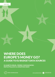 "Just Released: ""Where Does Europe's Money Go? A Guide to EU Budget Data Sources"""