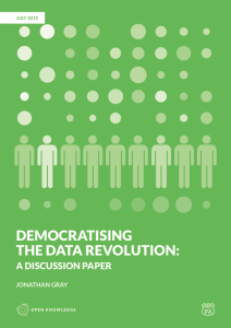 "New Discussion Paper: ""Democratising the Data Revolution"""