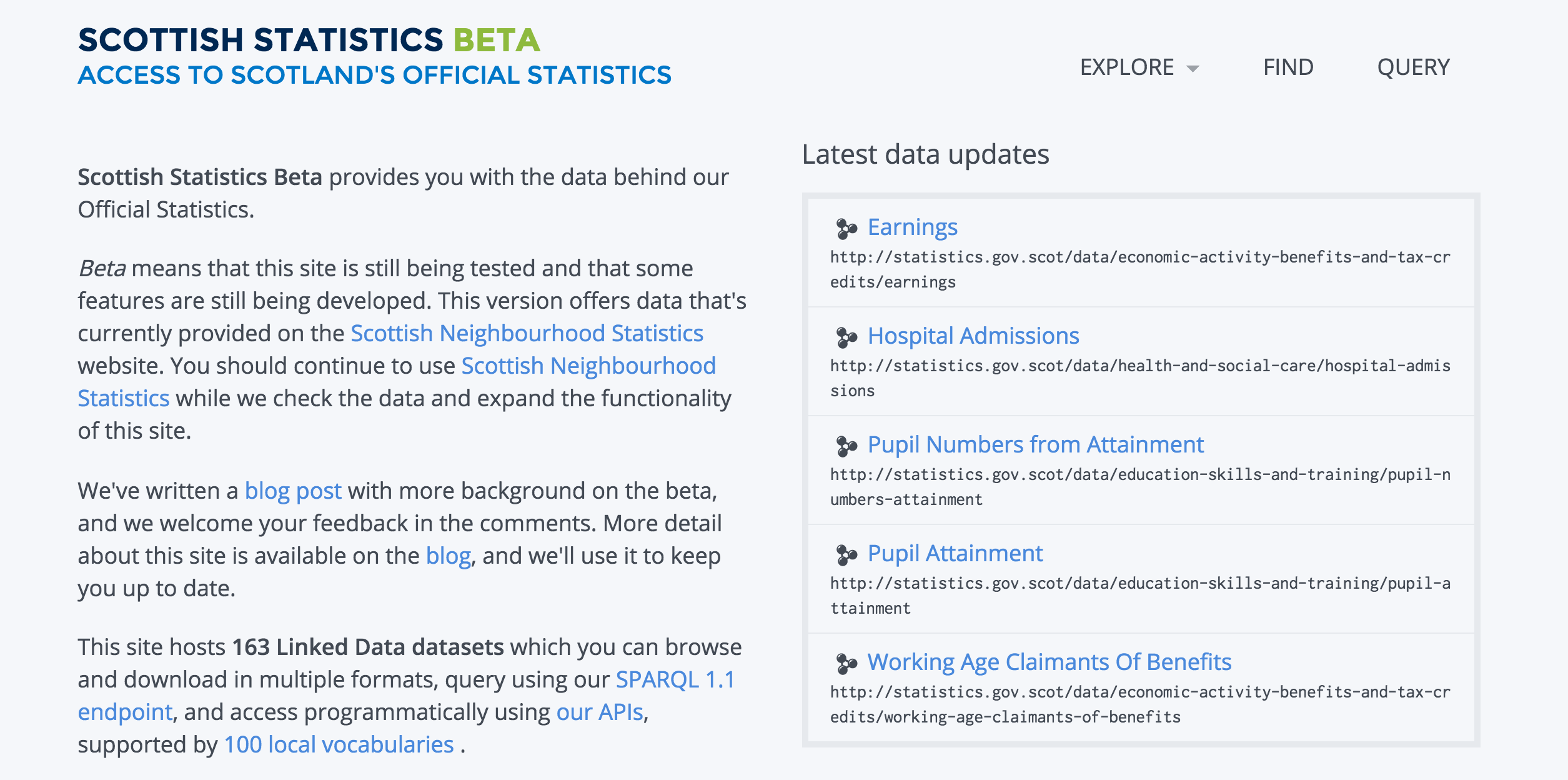 Scottish Statistics Beta – over 1 billion Scottish facts!