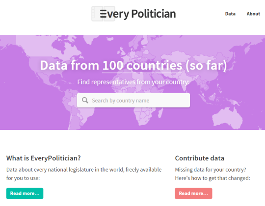 100 parliaments as open data, ready for you to use