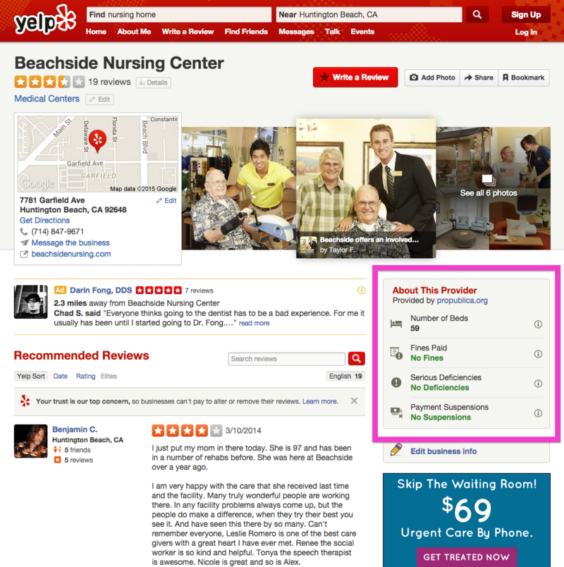 Yelp's Consumer Protection Initiative: ProPublica Partnership Brings Medical Info to Yelp