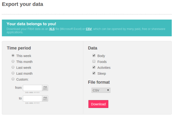 Hey Fitbit, my data belong to me!