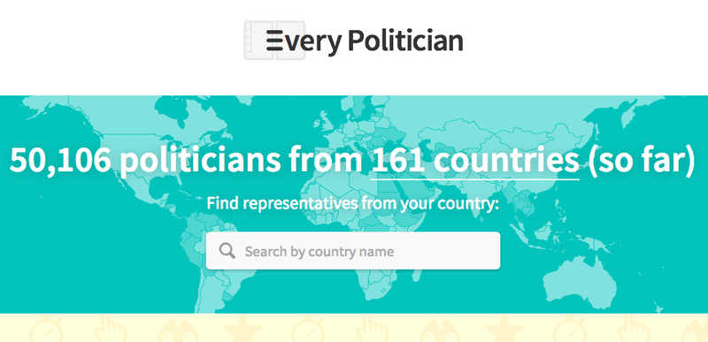 'EveryPolitician' provides open data on parliaments around the globe
