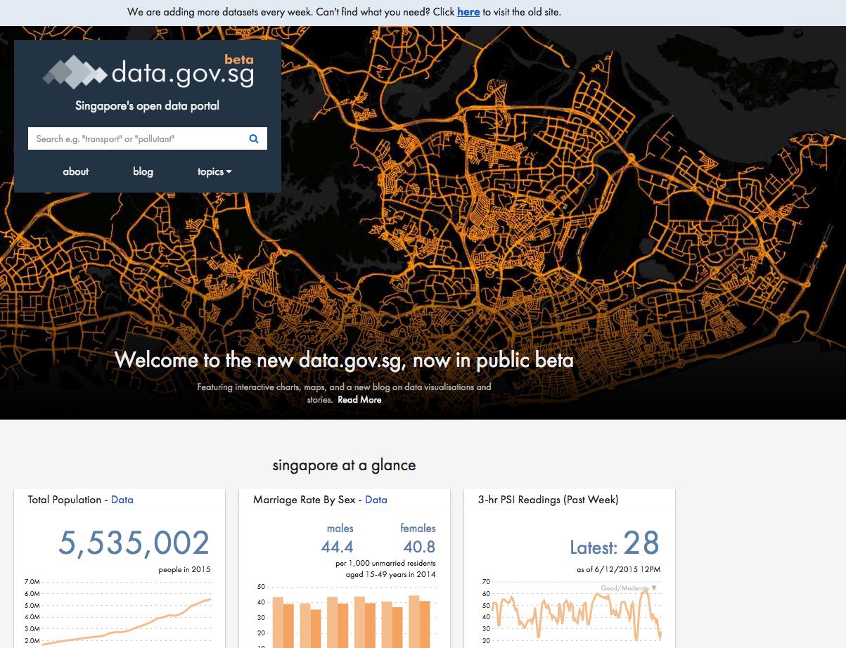 Singapore's open data portal