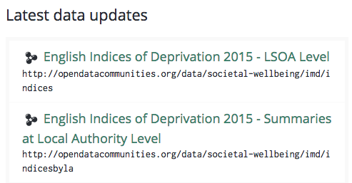New Deprivation Data and Apps for OpenDataCommunities