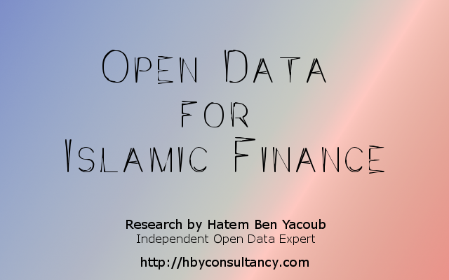 Research : Open Data for Islamic Finance